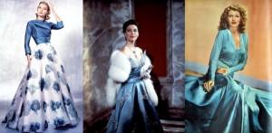 Artístico: Grace Kelly, Ava Gardner e Rita Hayworth.