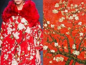 Dolce & Gabanna - Primavera/Verão 2014 e Branches of Almond Tree in Blossom (Vincent Van Gogh)