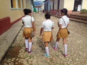 Escolares em Trinidad