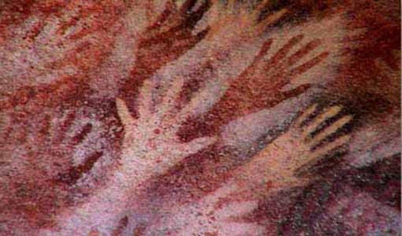 Pintura-rupestre-pré-histórica.-Patagônia-Argentina.-Autor-desconhecido.-1