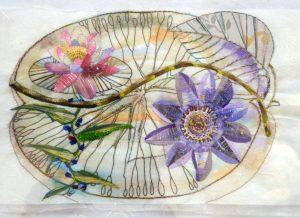 Flora brasileira, em papel washi, por Fátima Marinho