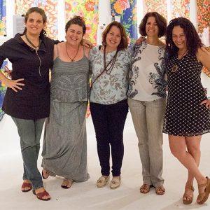 Dani, Isa, Silvia e Thereza do Transition e Solange Viana (Galeria de Arte)