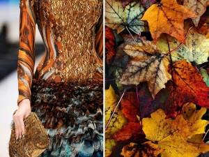 Alexander McQueen - Primavera/Verão 2010 e folhas de outono (Fotógrafo desconhecido)