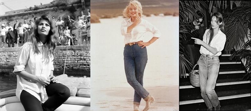 Sophia Loren, Marilyn Monroe e Jane Birkin (Foto: Reprodução)